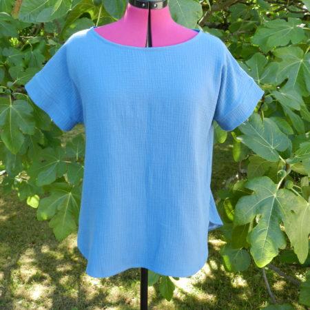 Cours de couture d une blouse en double gaz