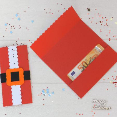 Porte billets pour Noël : enveloppe à billets