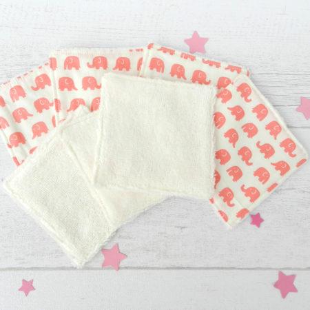 Lingettes nettoyantes lavables pour bébé
