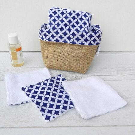 Lingettes nettoyantes lavables pour femme